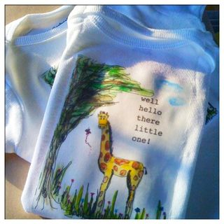 Giraffe baby t watercolor